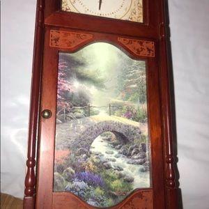 Thomas Kinkade grandfather clock bridge of Faith